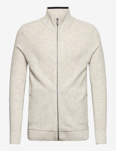 modern zip j - tricots basiques - light medium grey melange
