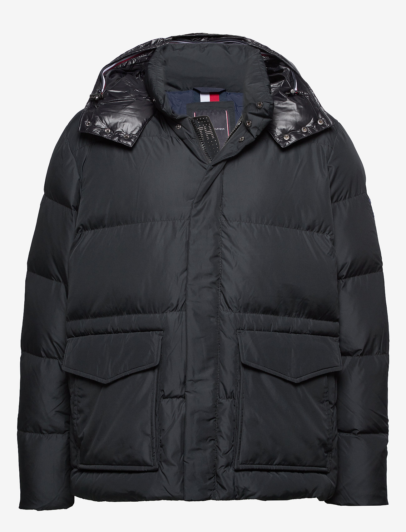 Tommy Hilfiger Big & Tall - BT-TOMMY HOODED BOMBER-B - padded jackets - jet black - 0