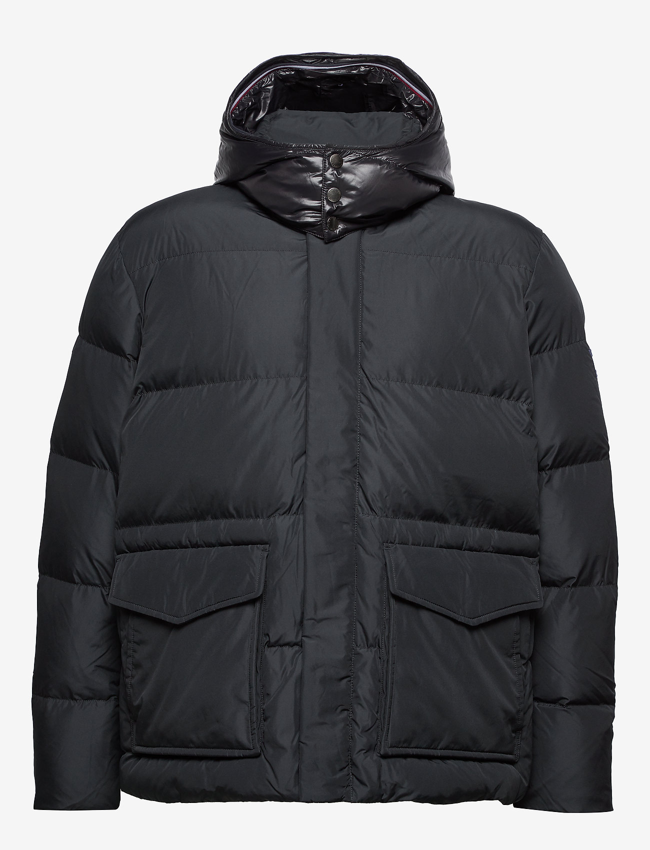Tommy Hilfiger Big & Tall - BT-TOMMY HOODED BOMBER-B - padded jackets - jet black - 1
