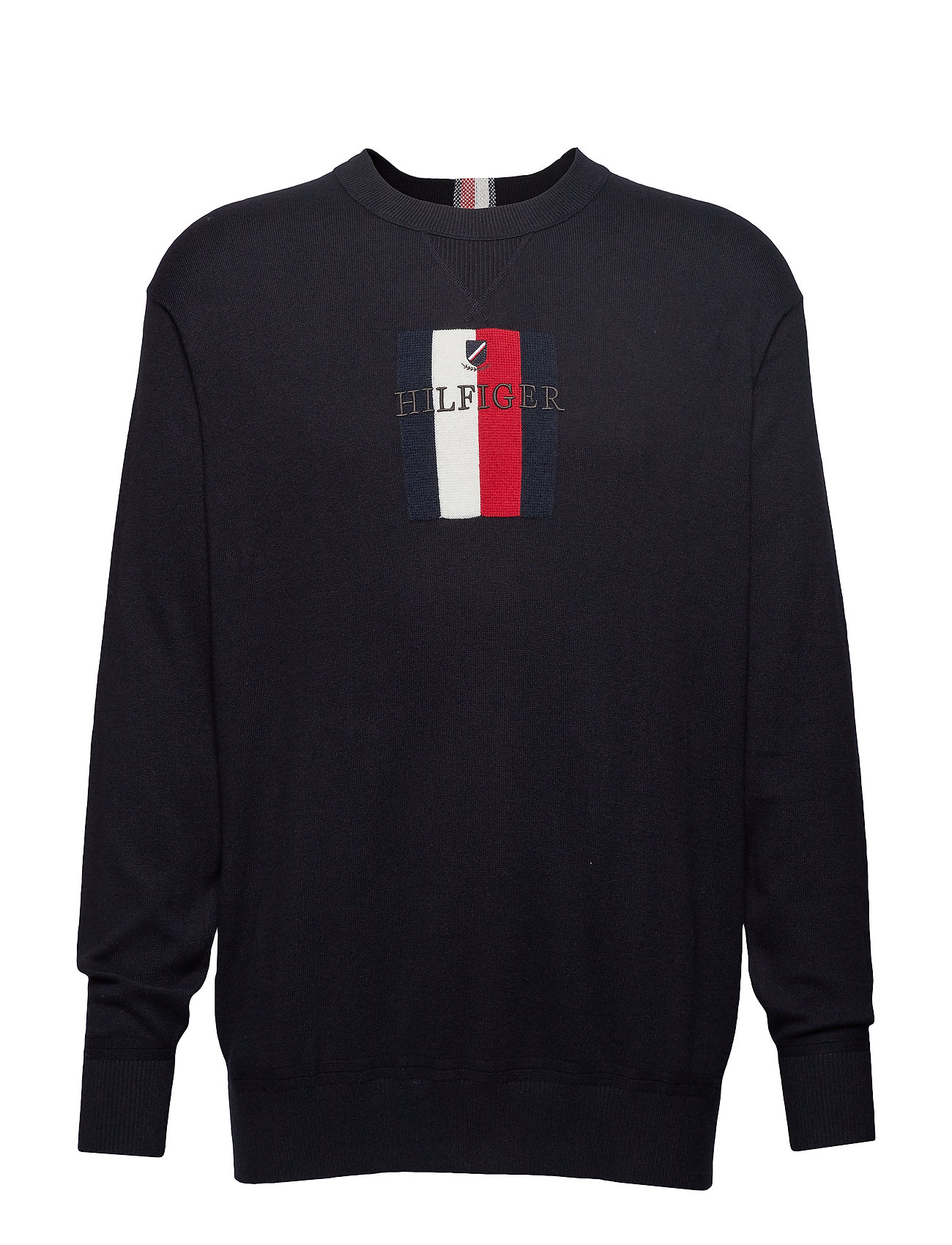 Tommy Hilfiger Big & Tall BT-GLOBAL STRIPE GRPHC SWEATER-B - SKY CAPTAIN