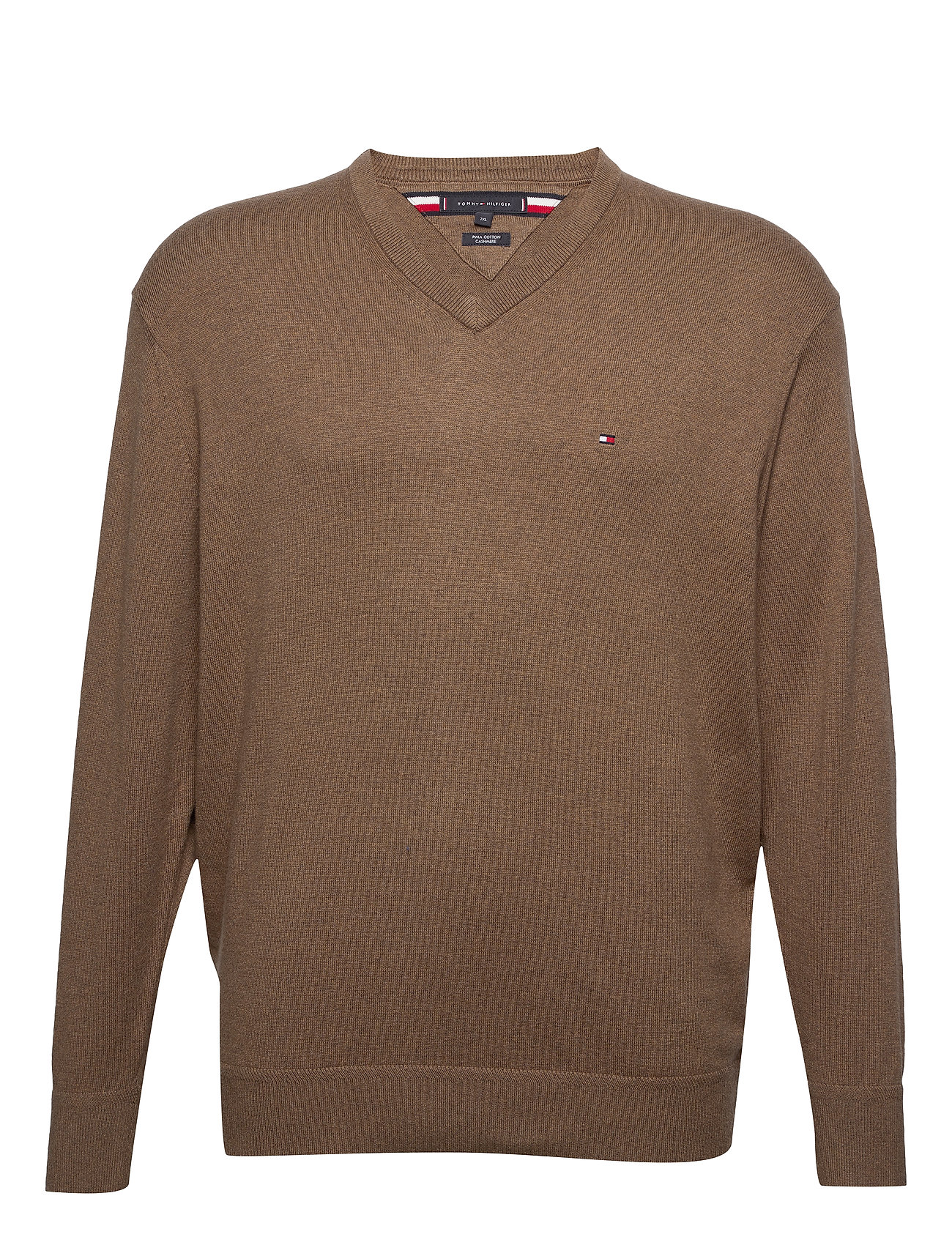 Tommy Hilfiger Big & Tall BT-PIMA COTTON CASHM - WALNUT HEATHER