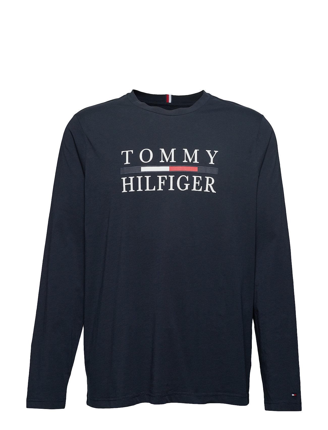 Tommy Hilfiger Big & Tall BT-TOMMY HILFIGER L SLEEVE TEE-B - SKY CAPTAIN