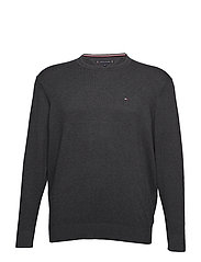 BT-PIMA COTTON CASHMERE CNECK-B - CHARCOAL HTR