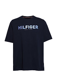 Bt-Hilfiger Applique T-shirts Short-sleeved Blå TOMMY HILFIGER BIG & TALL
