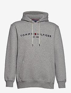 BT-TOMMY LOGO HOODY - CLOUD HTR