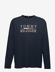 BT-TOMMY HILFIGER L SLEEVE TEE-B - SKY CAPTAIN