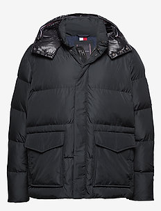 BT-TOMMY HOODED BOMBER-B - padded jackets - jet black