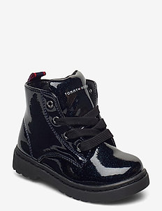 LACE-UP BOOTIE - stövlar & kängor - blue