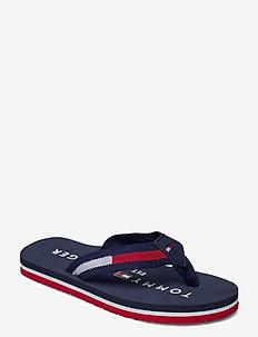 LOGO PRINT FLIP FLOP - flip flops & watershoes - blue
