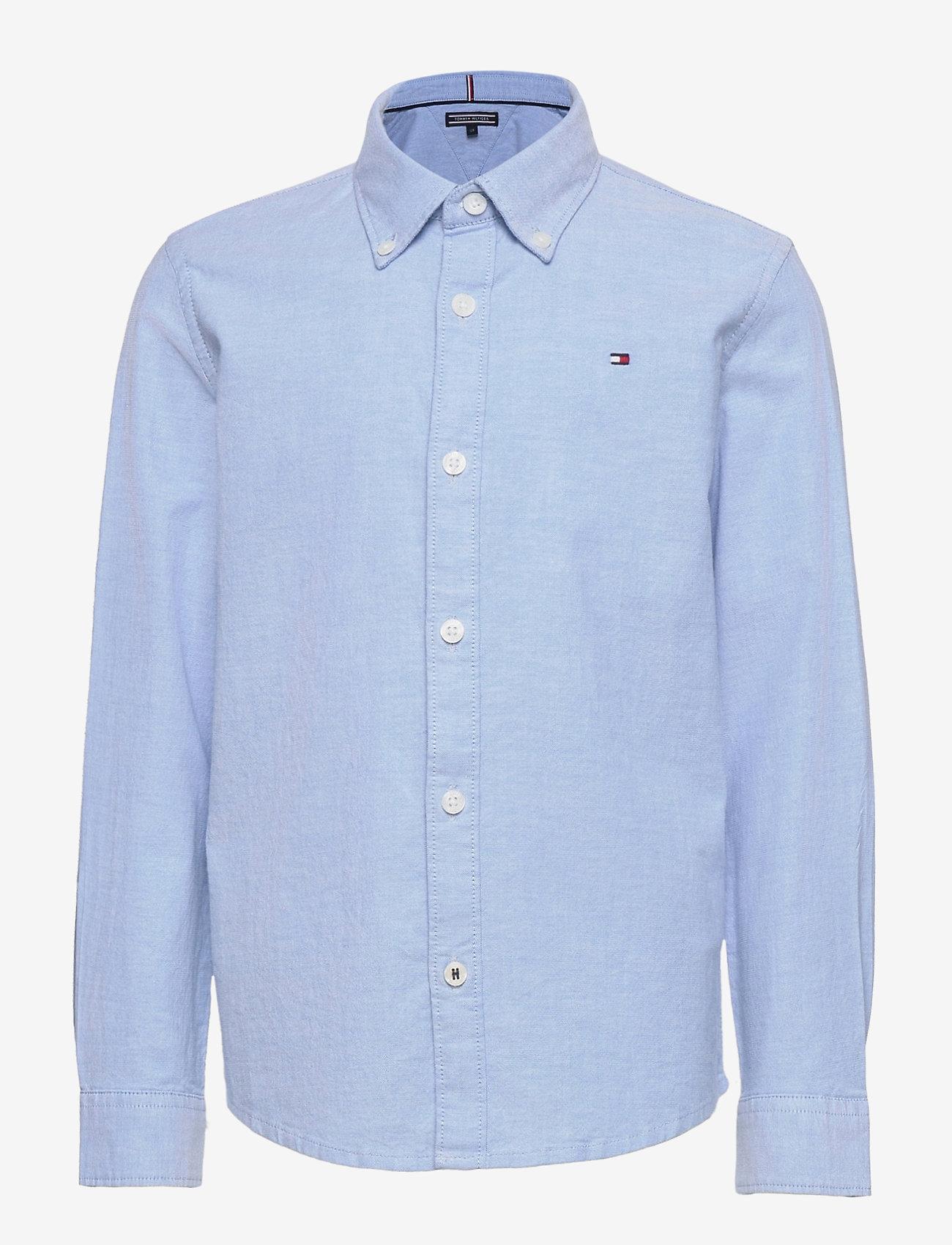 Tommy Hilfiger - BOYS STRETCH OXFORD SHIRT L/S - shirts - shirt blue - 0