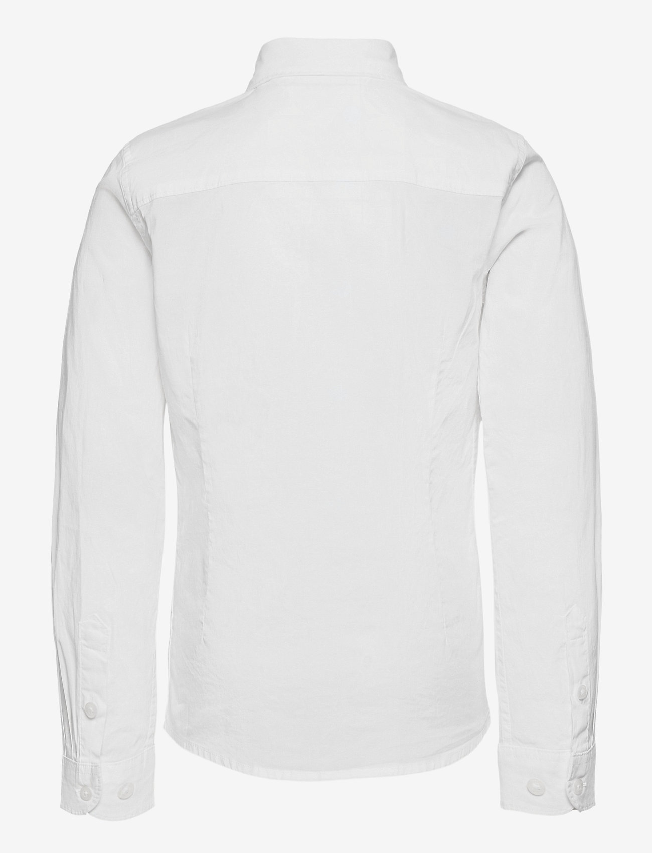 Tommy Hilfiger - BOYS SOLID STRETCH POPLIN SHIRT L/S - overhemden - bright white - 1