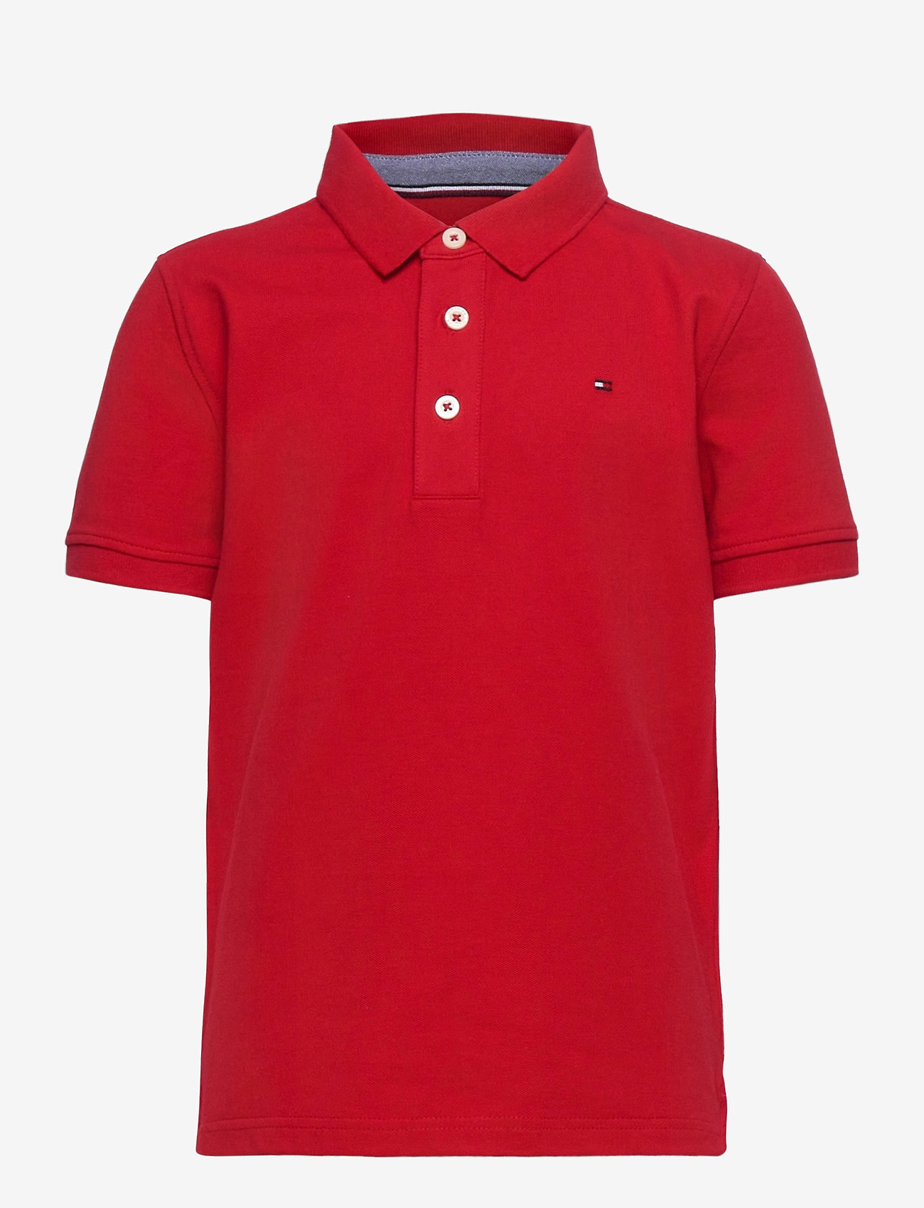 Tommy Hilfiger - BOYS TOMMY POLO S/S - polo shirts - apple red - 0