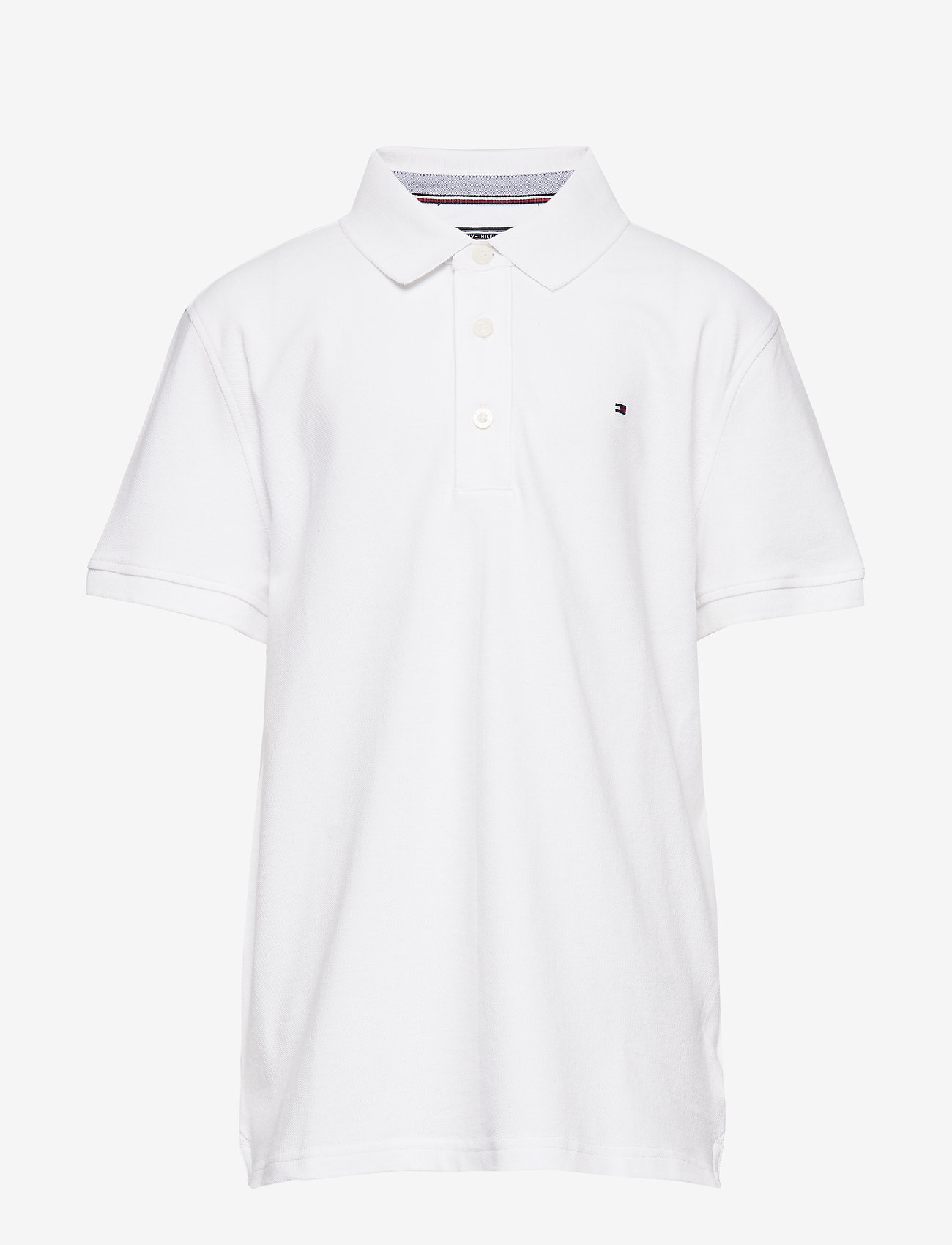Tommy Hilfiger - BOYS TOMMY POLO S/S - polo shirts - bright white - 0
