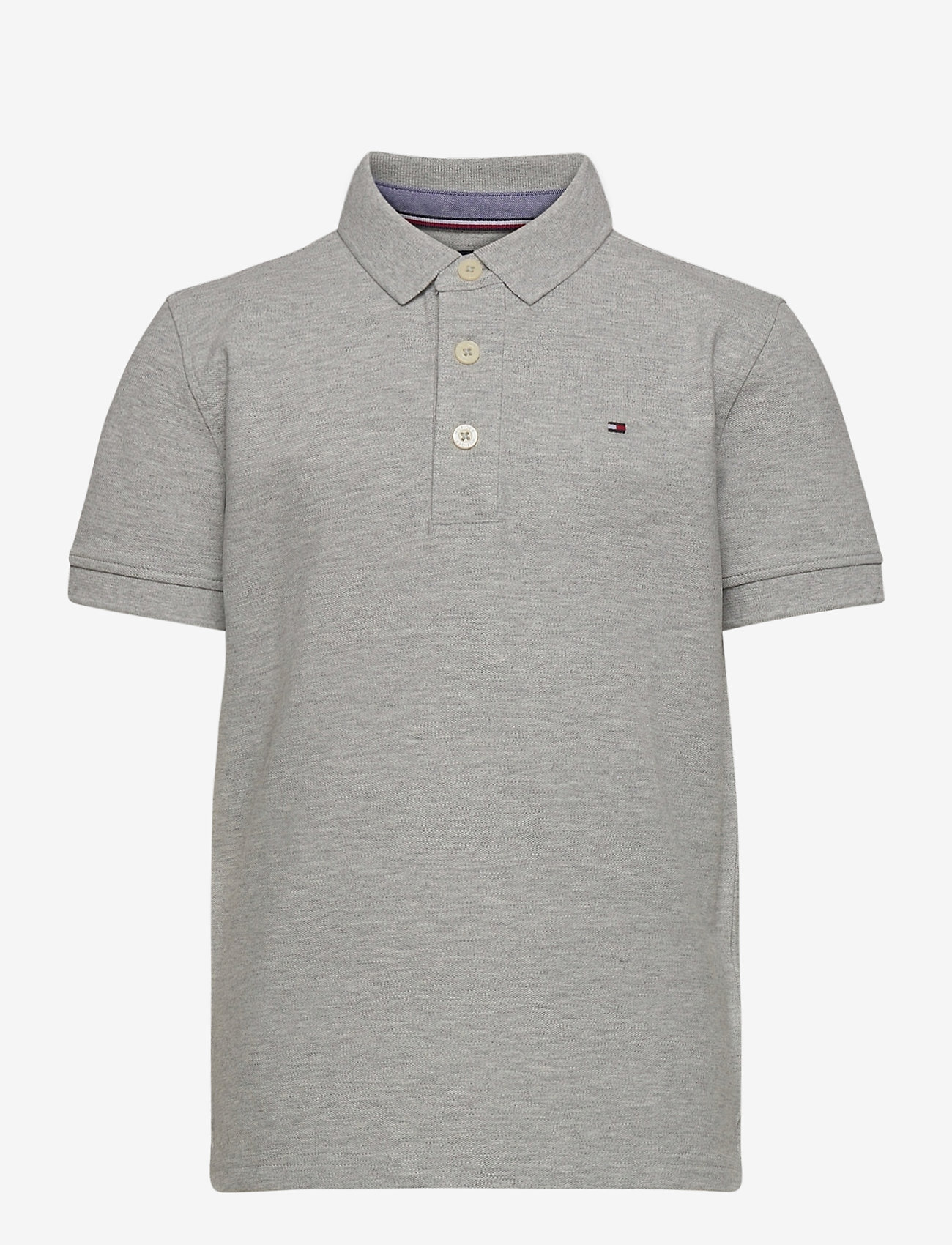 Tommy Hilfiger - BOYS TOMMY POLO S/S - polo shirts - grey heather - 0
