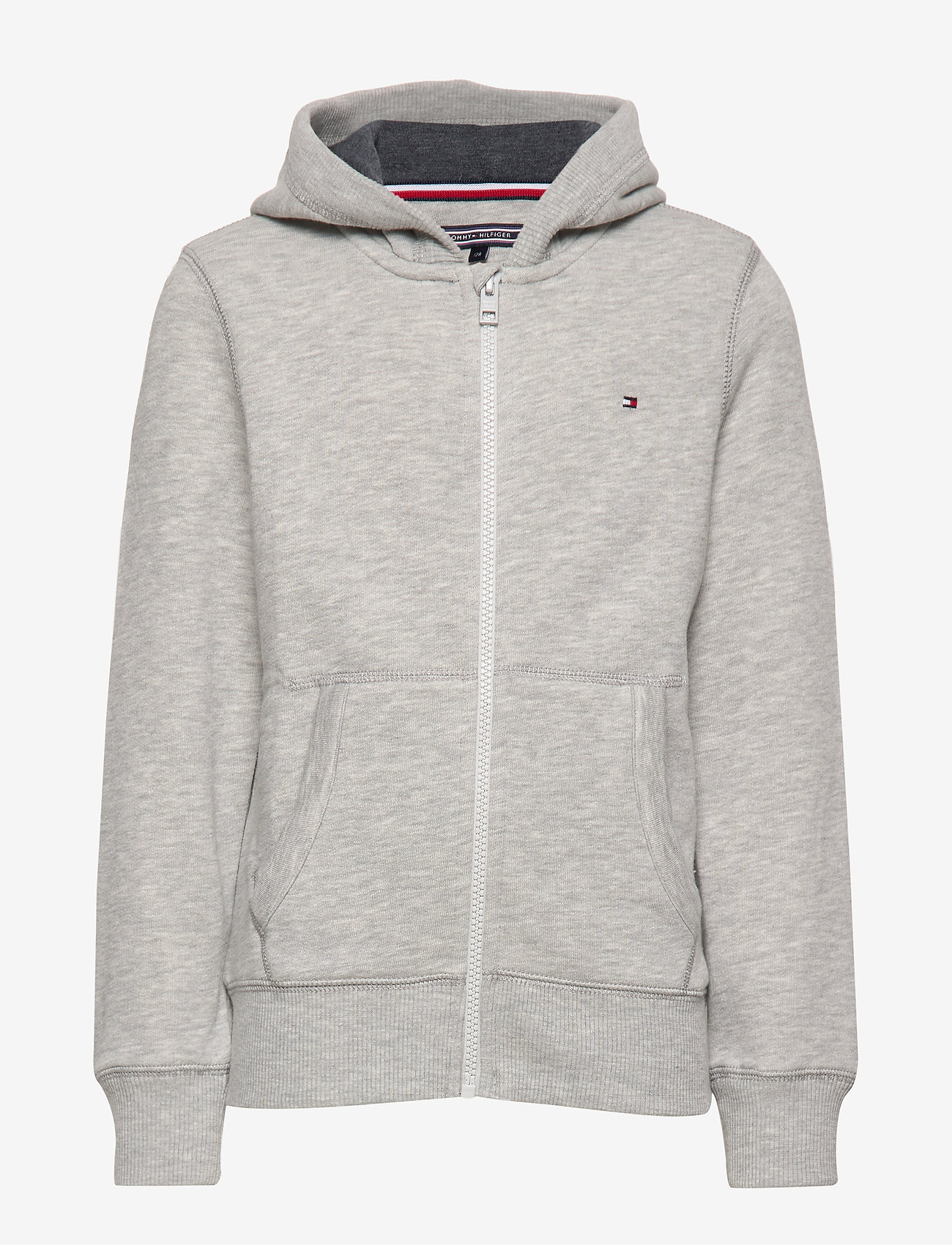 Tommy Hilfiger - BOYS BASIC ZIP HOODI - hoodies - grey heather - 0