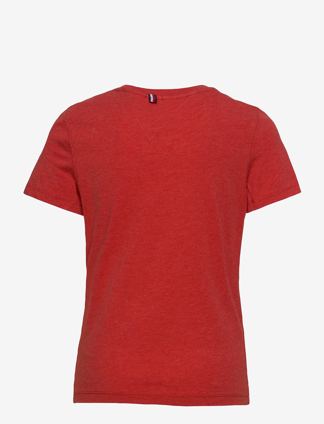 Tommy Hilfiger - BOYS BASIC CN KNIT S - short-sleeved - apple red heather - 1