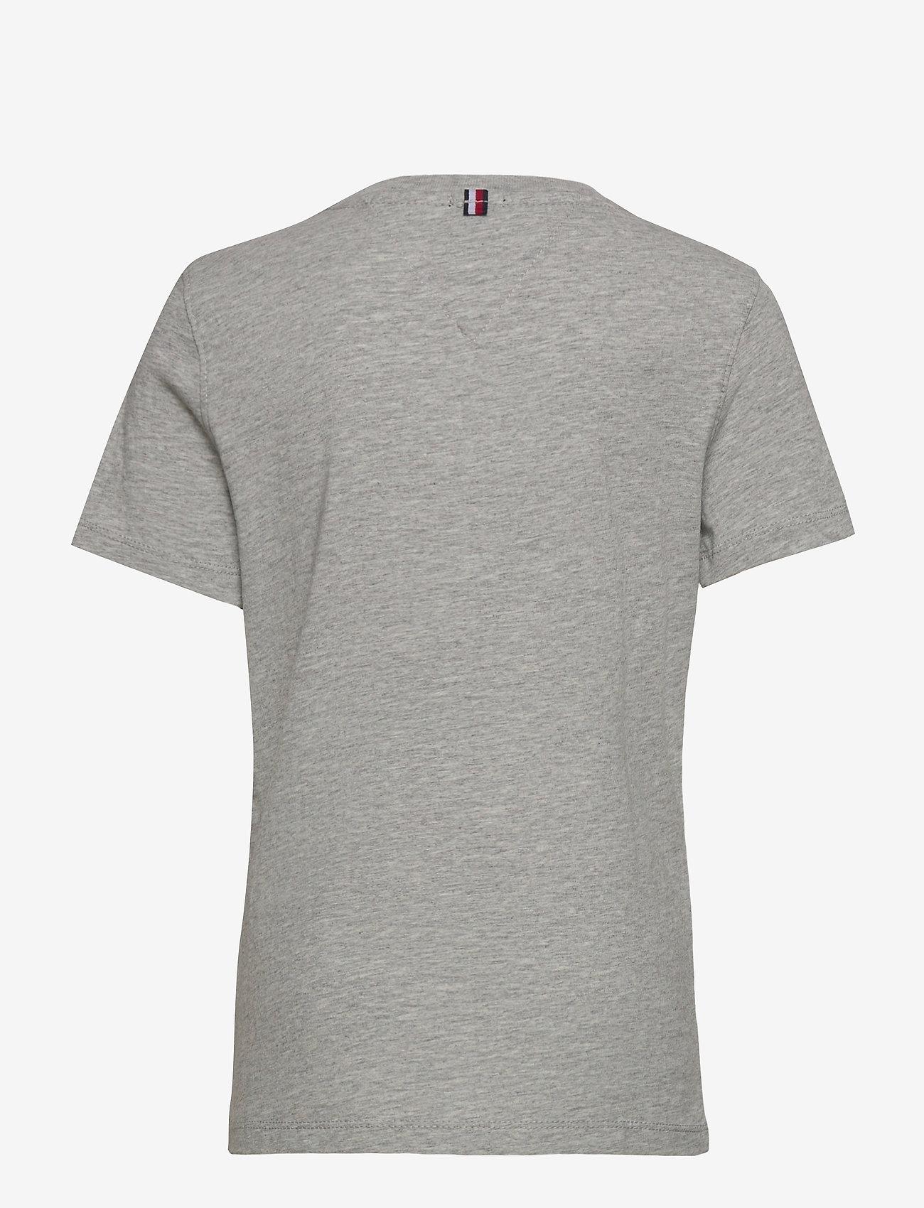 Tommy Hilfiger - BOYS BASIC CN KNIT S - short-sleeved - grey heather - 1