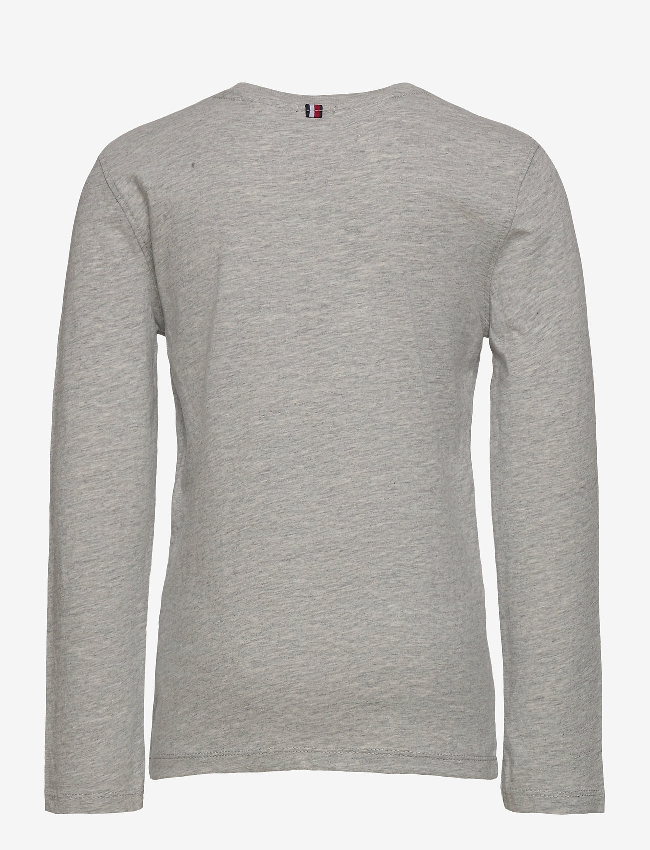 Tommy Hilfiger - BOYS BASIC CN KNIT L - long-sleeved t-shirts - grey heather - 1