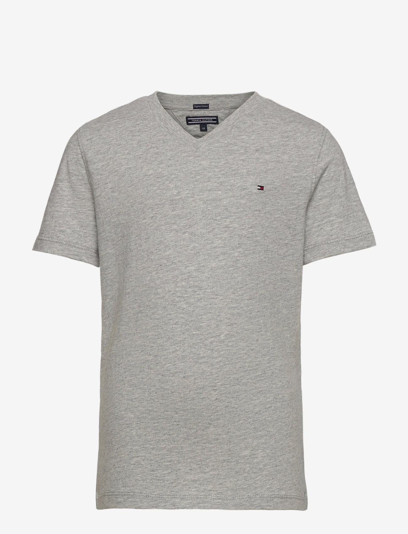 Tommy Hilfiger - BOYS BASIC VN KNIT S - short-sleeved - grey heather - 0