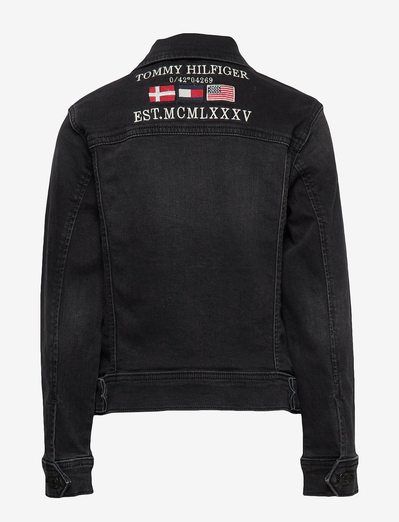 Tommy Hilfiger - TRUCKER BOYS DUSBST - denimjakker - dusk black stretch - 1