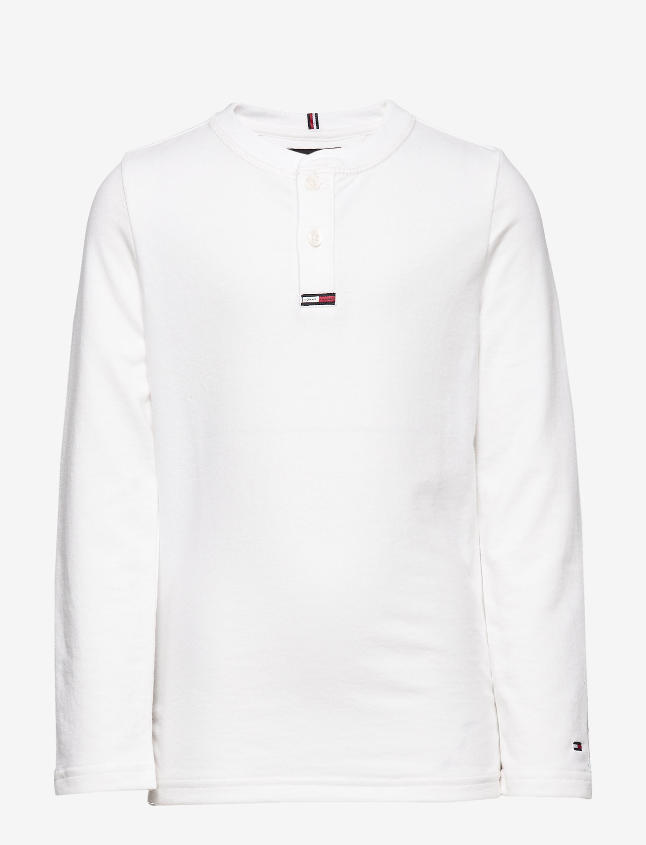 Tommy Hilfiger - WAFFLE HENLEY TEE L/ - lange mouwen - bright white - 0