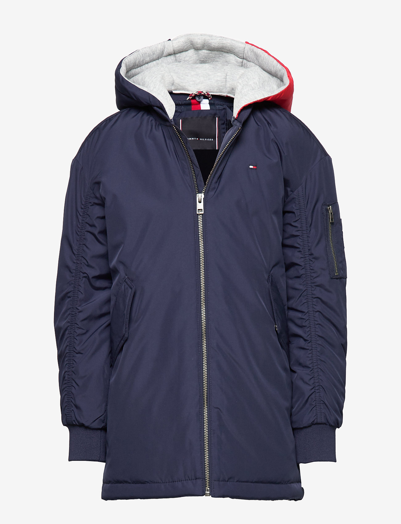 Tommy Hilfiger - HOODED FLIGHT PARKA - parkas - black iris - 0