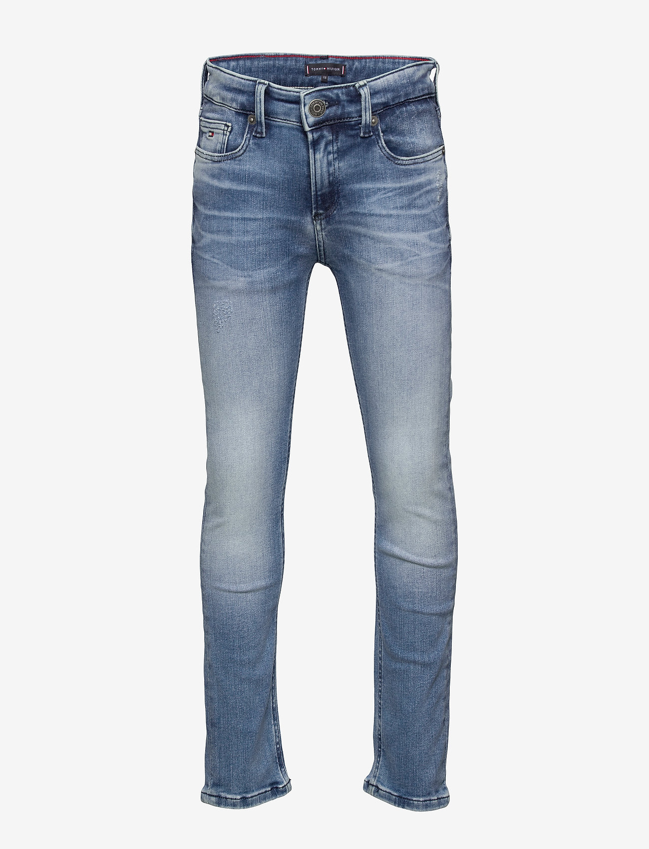 Tommy Hilfiger - SCANTON SLIM RABDST - jeans - rapt blue destructed  stretch - 0