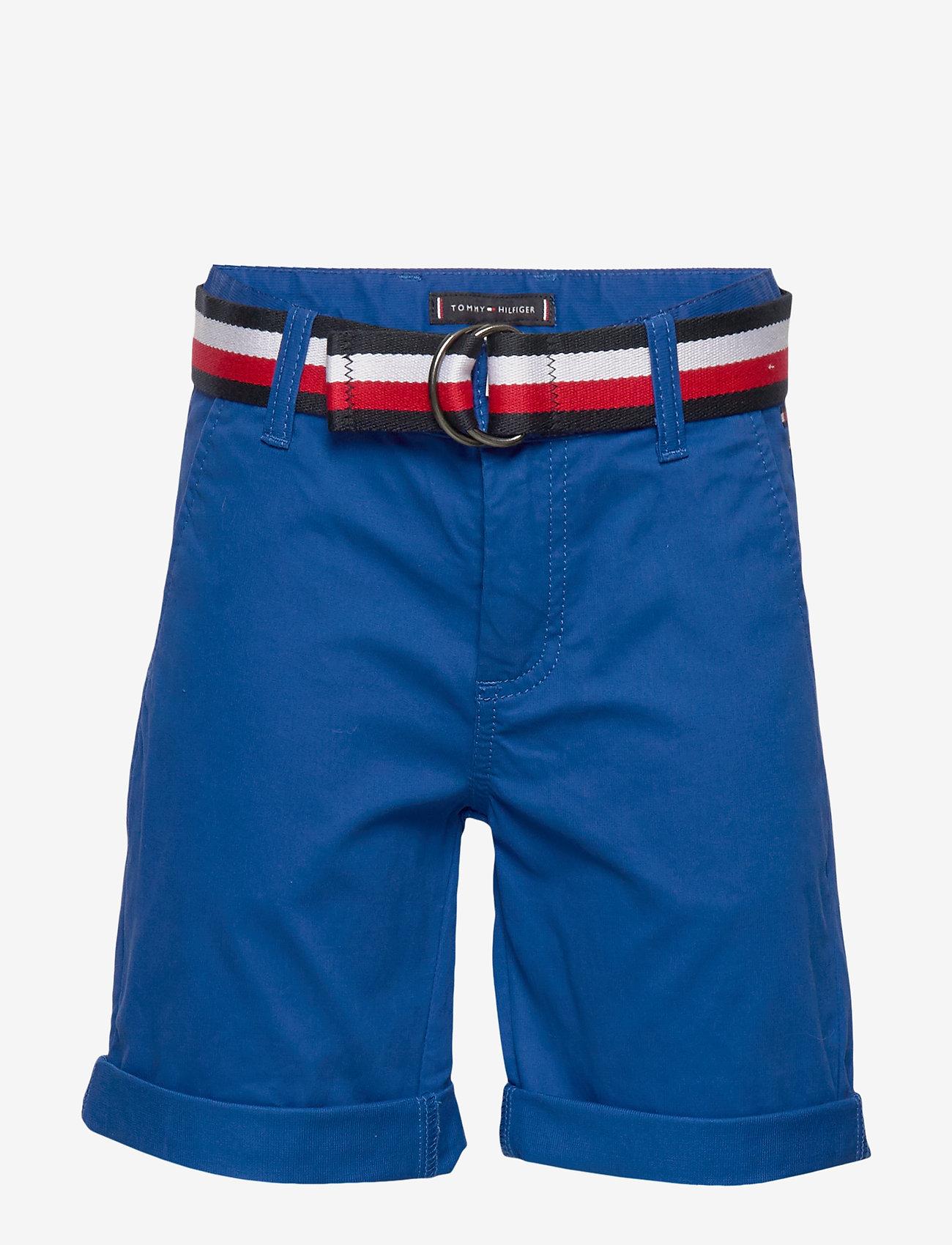 Tommy Hilfiger - ESSENTIAL BELTED CHI - shorts - lapis lazuli - 0