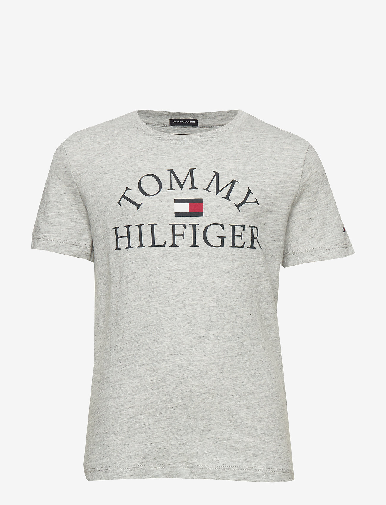 Tommy Hilfiger - ESSENTIAL LOGO TEE S - short-sleeved - light grey heather bc04 vol32 - 0