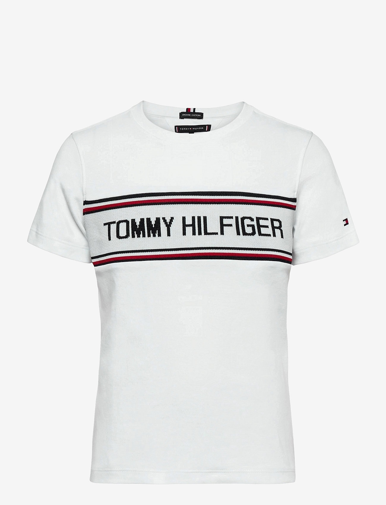 Tommy Hilfiger - TH INTARSIA TEE S/S - short-sleeved - white 658-170 - 0