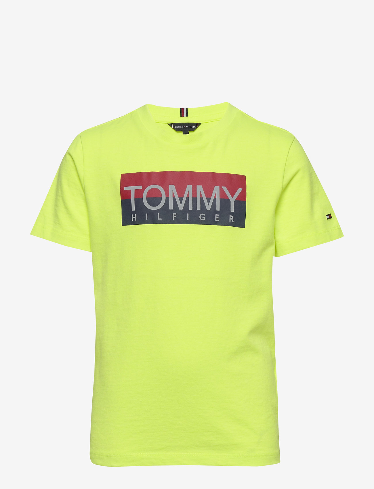 Tommy Hilfiger - REFLECTIVE HILFIGER TEE S/S - short-sleeved - safety yellow 13-0630