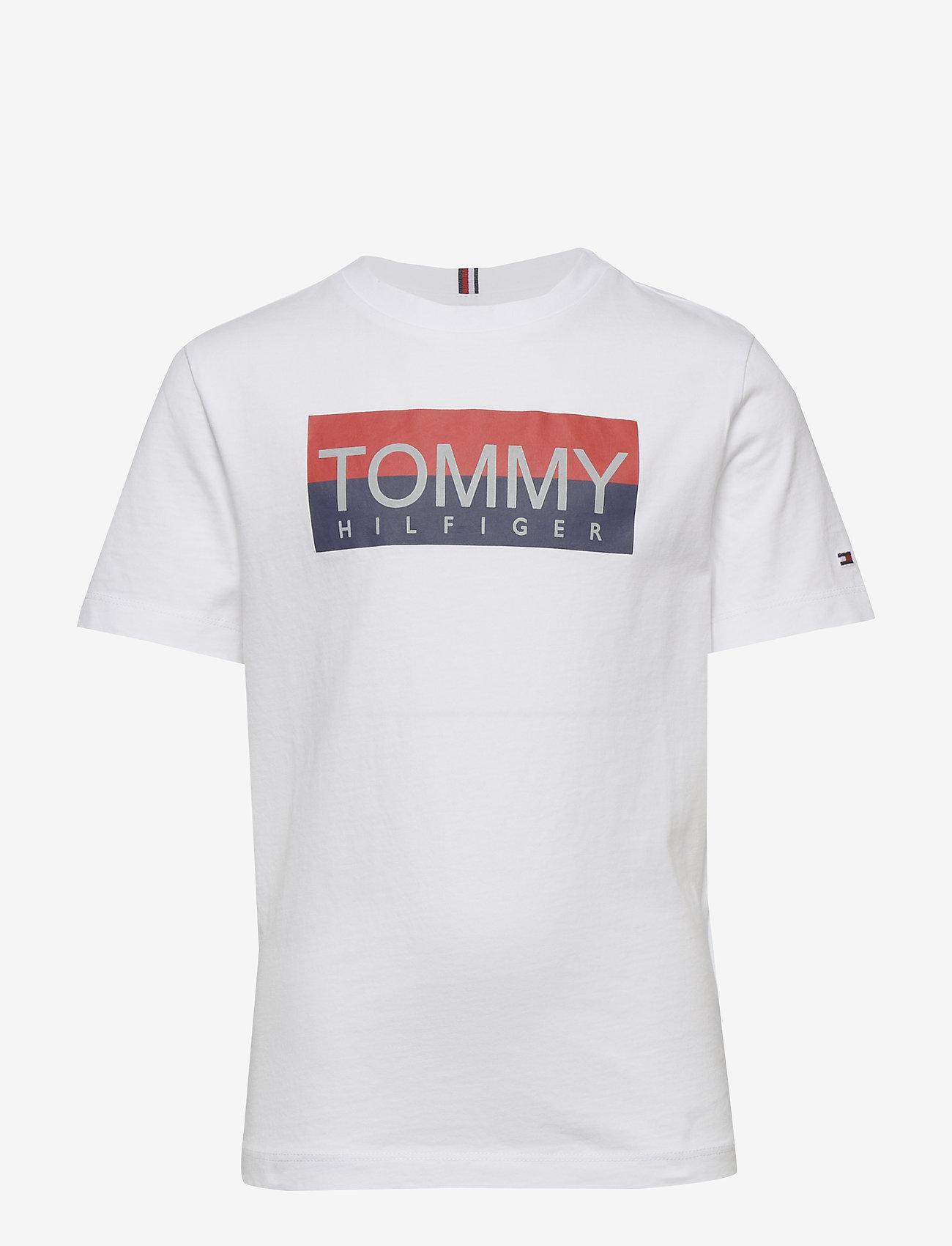Tommy Hilfiger - REFLECTIVE HILFIGER TEE S/S - short-sleeved - white 658-170 - 0