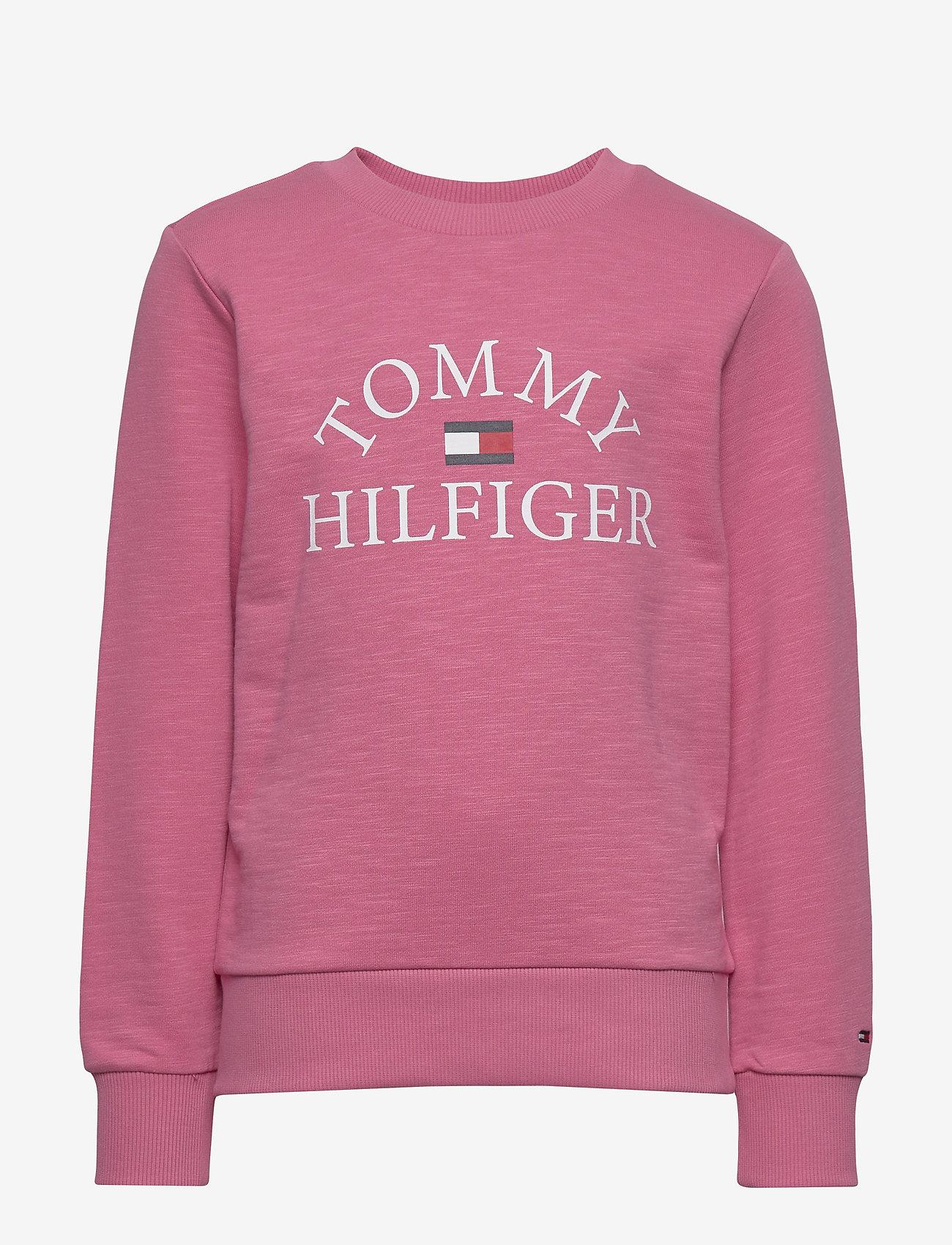 Tommy Hilfiger - ESSENTIAL LOGO SWEAT - sweatshirts - light cerise pink - 0