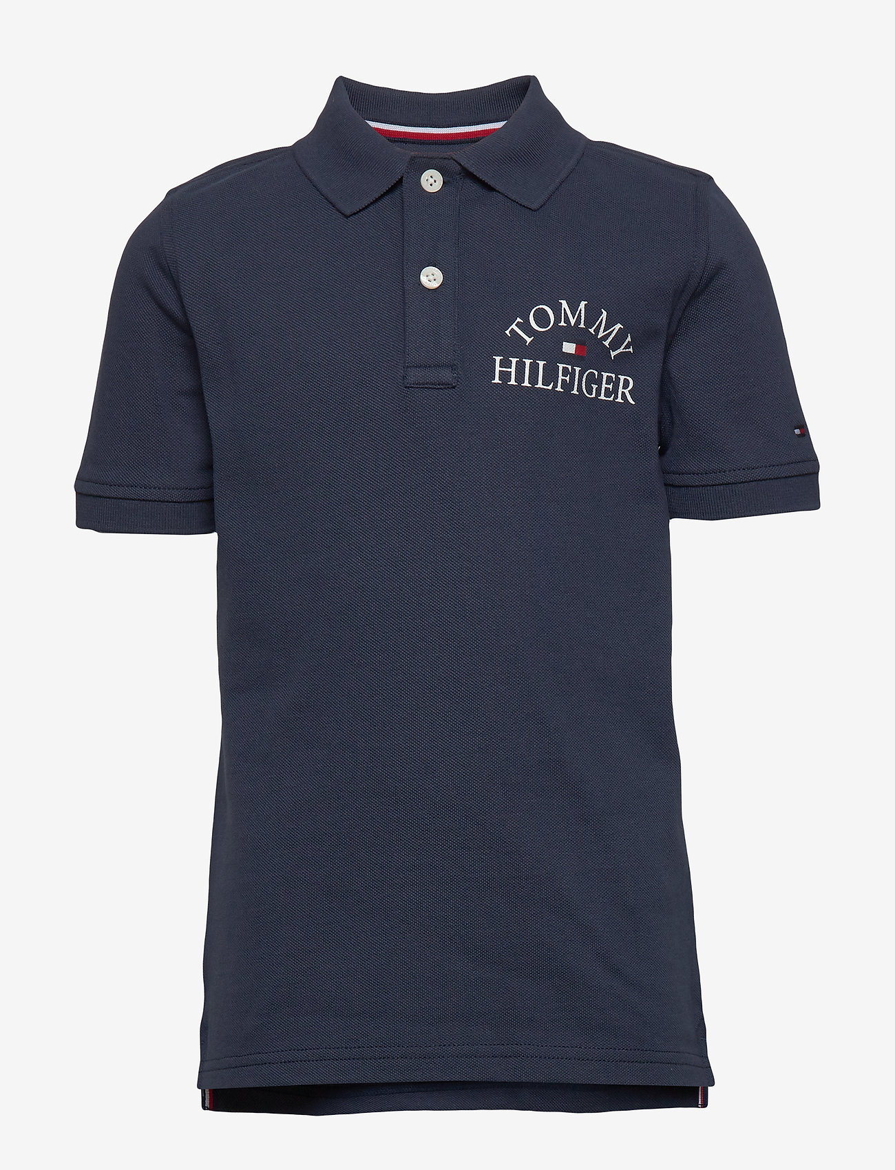 Tommy Hilfiger - ESSENTIAL LOGO CHEST POLO S/S - polo shirts - twilight navy 654-860 - 0