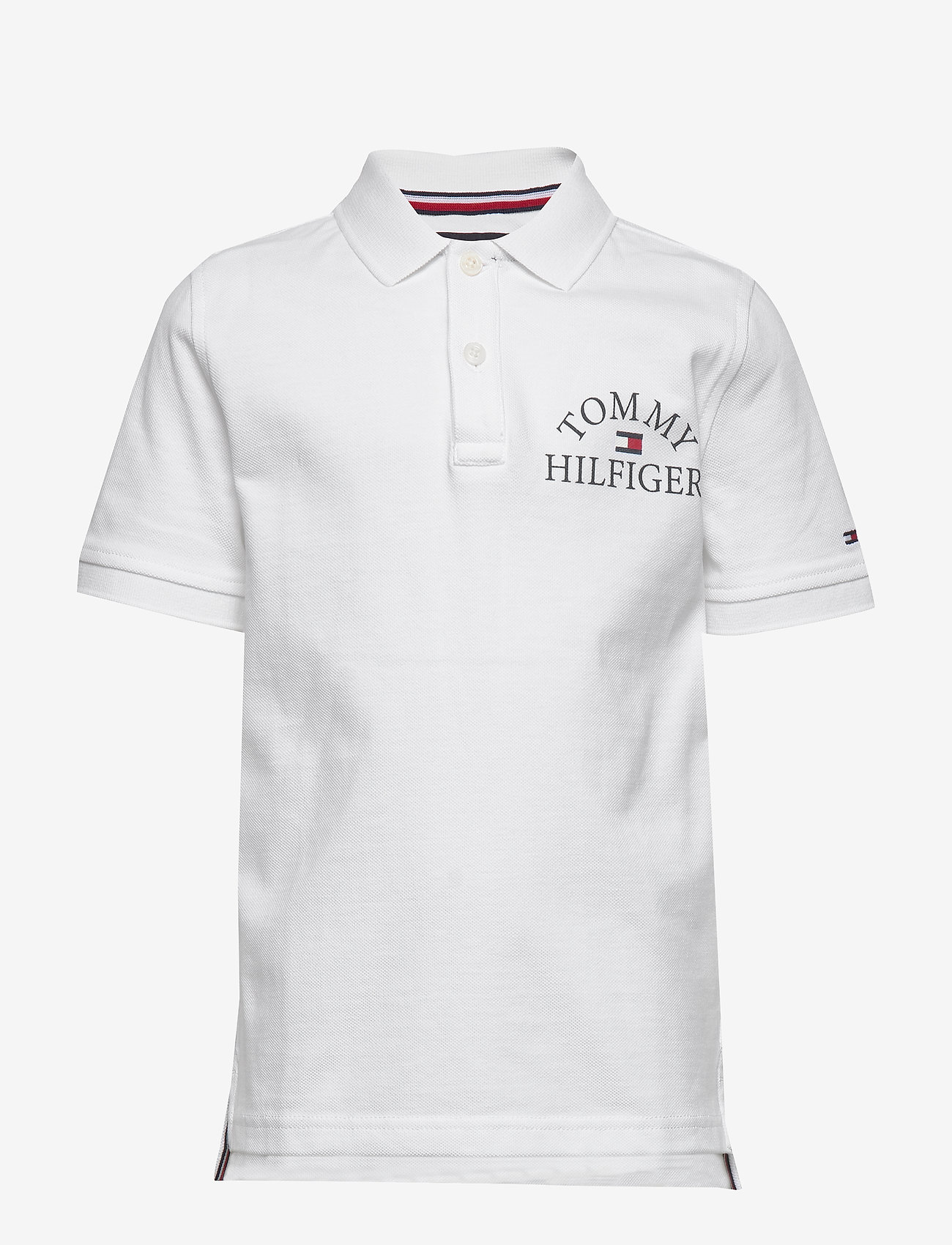 Tommy Hilfiger - ESSENTIAL LOGO CHEST POLO S/S - polo shirts - white 658-170