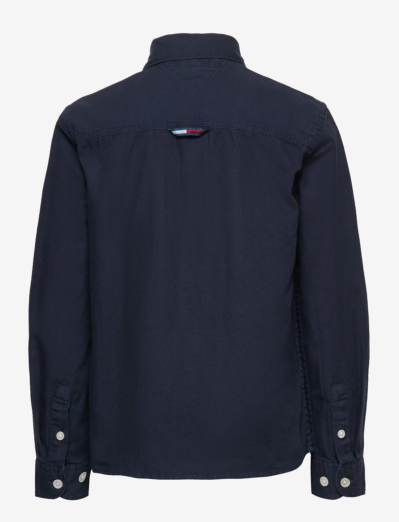 Tommy Hilfiger - OVERDYE DOBBY SHIRT L/S - shirts - twilight navy 654-860