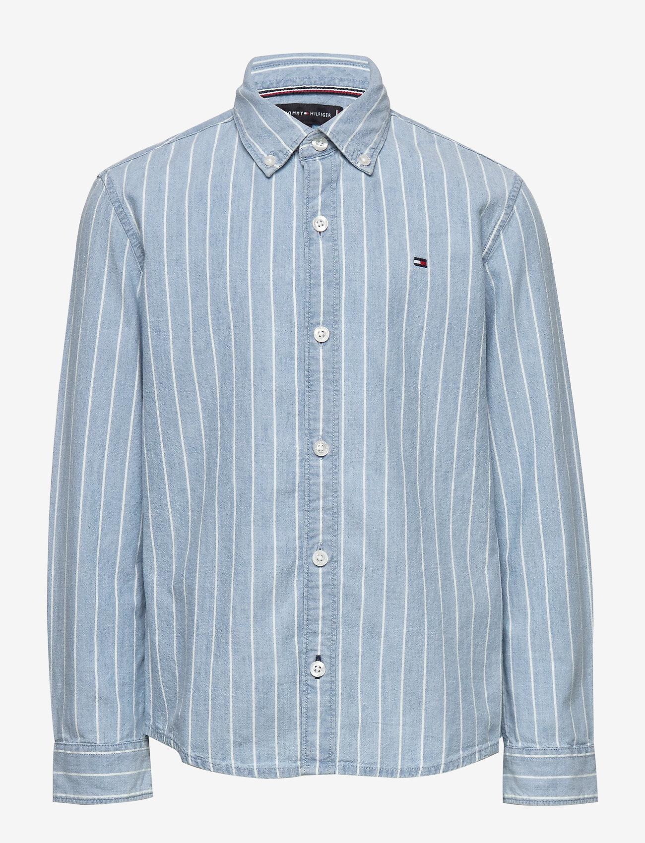 Tommy Hilfiger - DENIM STRIPE SHIRT L - shirts - denim light 01 - 0