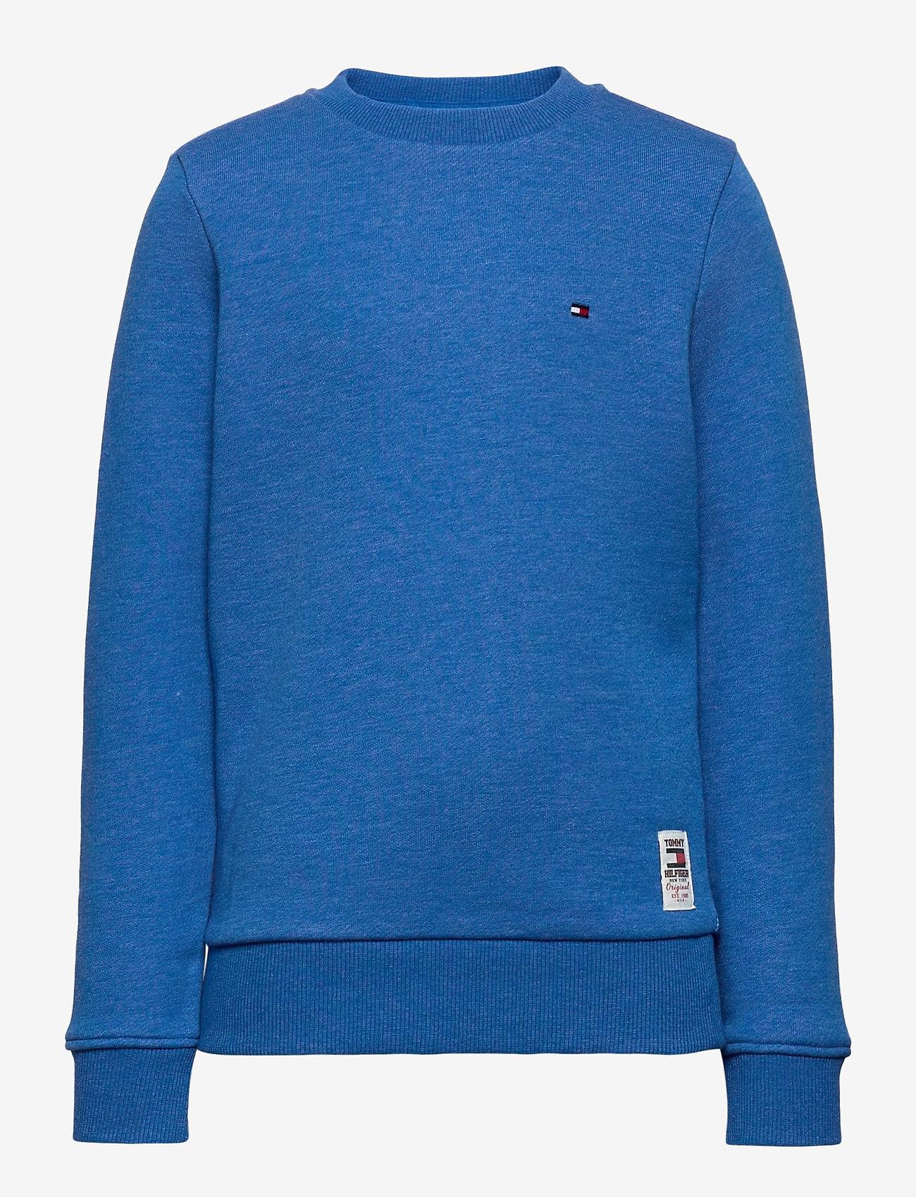 Tommy Hilfiger - BACK INSERT CN SWEATSHIRT - sweatshirts - dynamic blue - 0