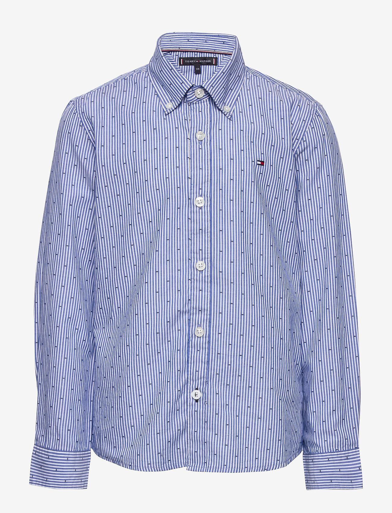 Tommy Hilfiger - YD STRIPE CLIPPING SHIRT L/S - shirts - blue stripe 02 - 0