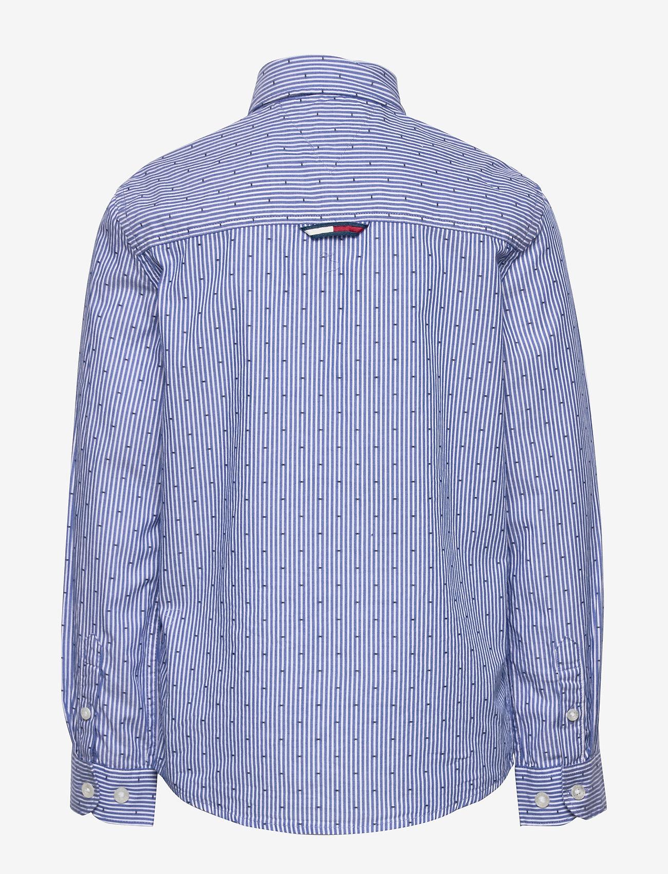 Tommy Hilfiger - YD STRIPE CLIPPING SHIRT L/S - shirts - blue stripe 02 - 1