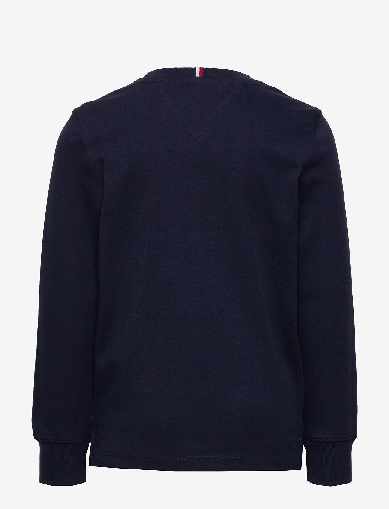 Tommy Hilfiger - GLOBAL STRIPE GRAPHIC TEE L/S - sweatshirts - twilight navy - 1