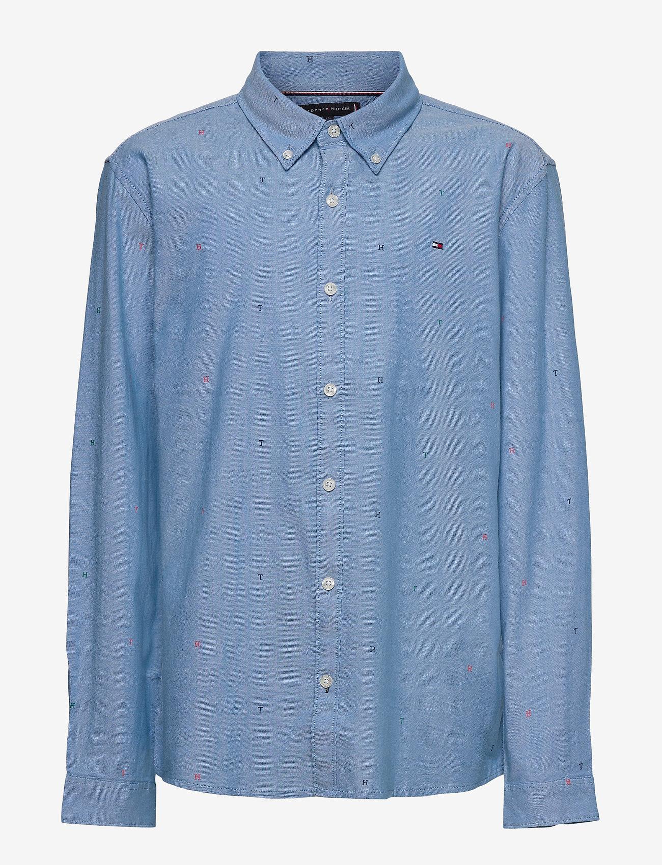 Tommy Hilfiger - AOP OXFORD SHIRT L/S - overhemden - blue allover - 0