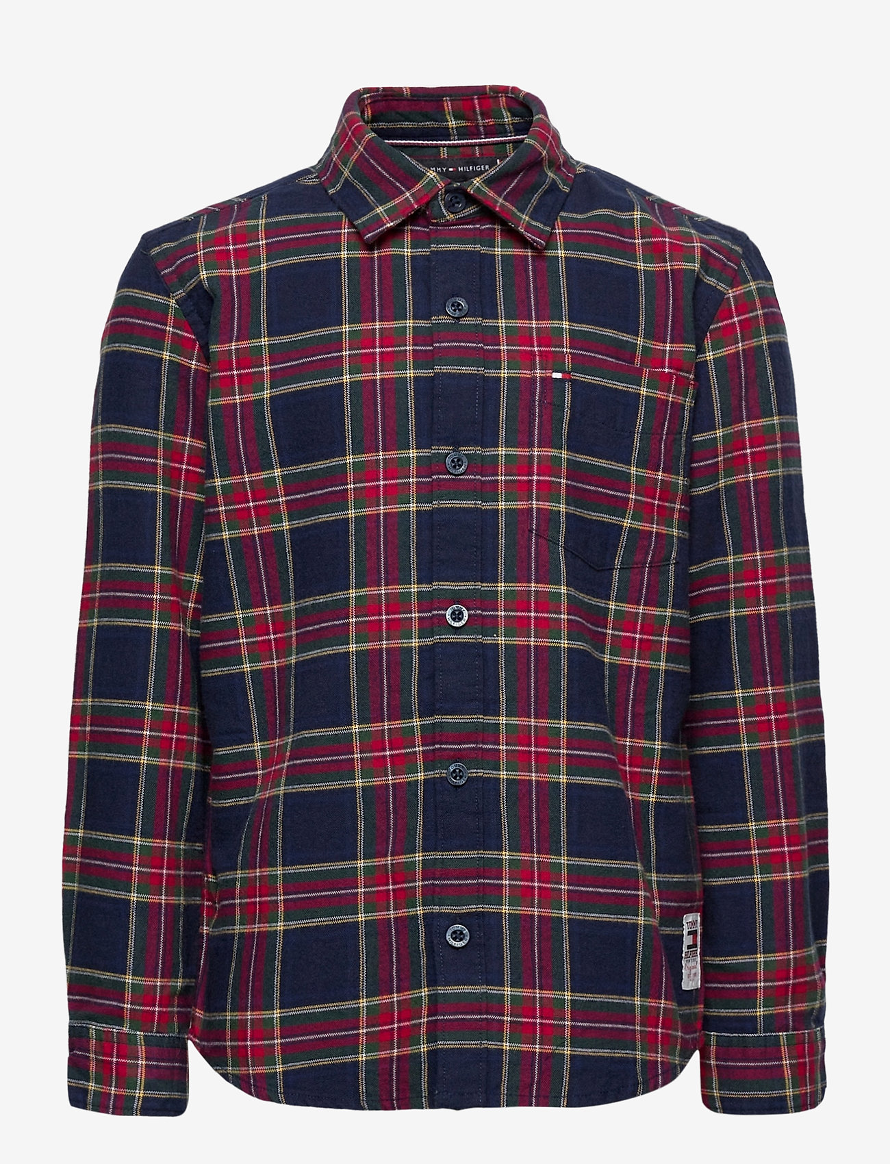 Tommy Hilfiger - OXFORD  CHECK SHIRT L/S - overhemden - blue check/deep crimson - 0