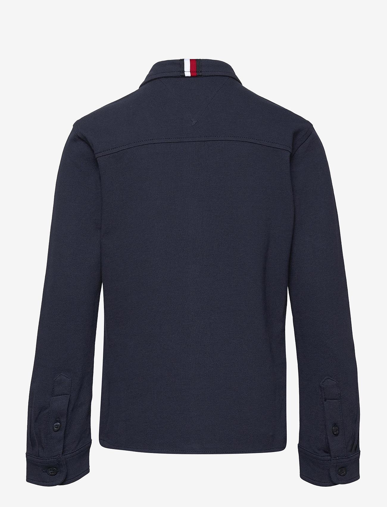 Tommy Hilfiger - STRETCH PIQUE SHIRT L/S - shirts - twilight navy - 1