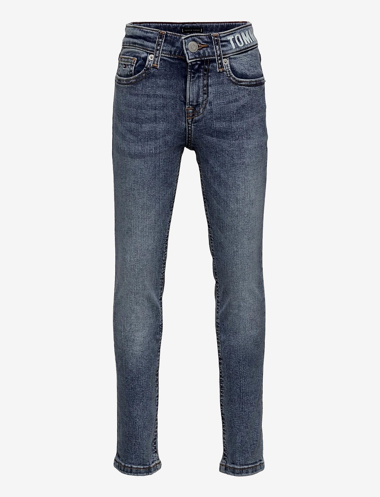 Tommy Hilfiger - SCANTON SLIM WAISTBAND PRINT - jeans - saltpepperlttstr - 0