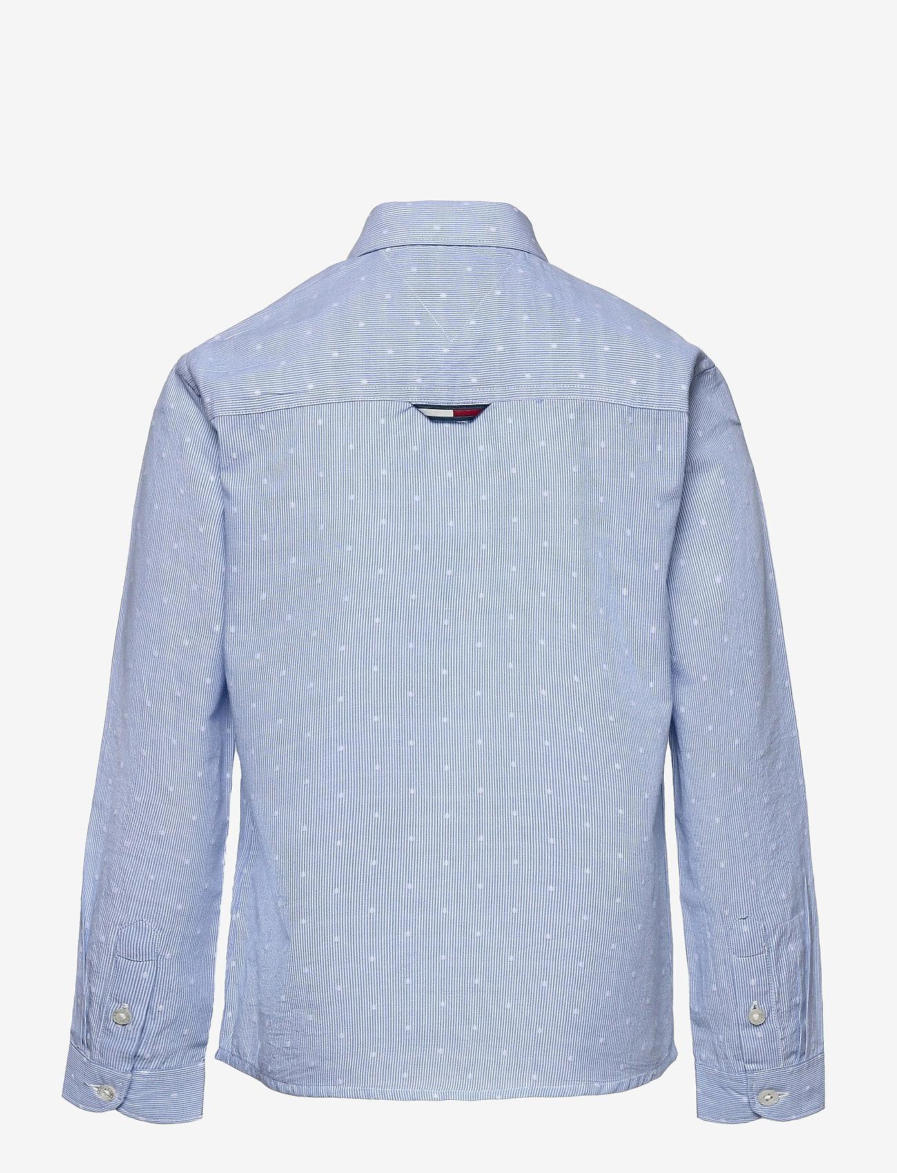 Tommy Hilfiger - DOTTED DOBBY SHIRT L/S - shirts - blue stripe - 1