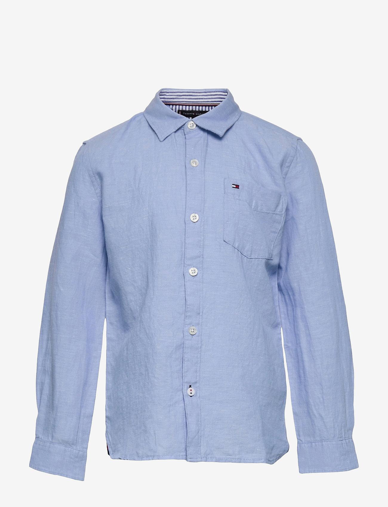 Tommy Hilfiger - ESSENTIAL COTTON LINEN SHIRT L/S - shirts - light blue - 0