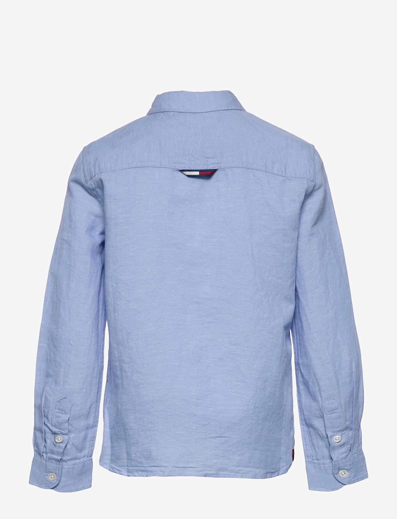 Tommy Hilfiger - ESSENTIAL COTTON LINEN SHIRT L/S - shirts - light blue - 1