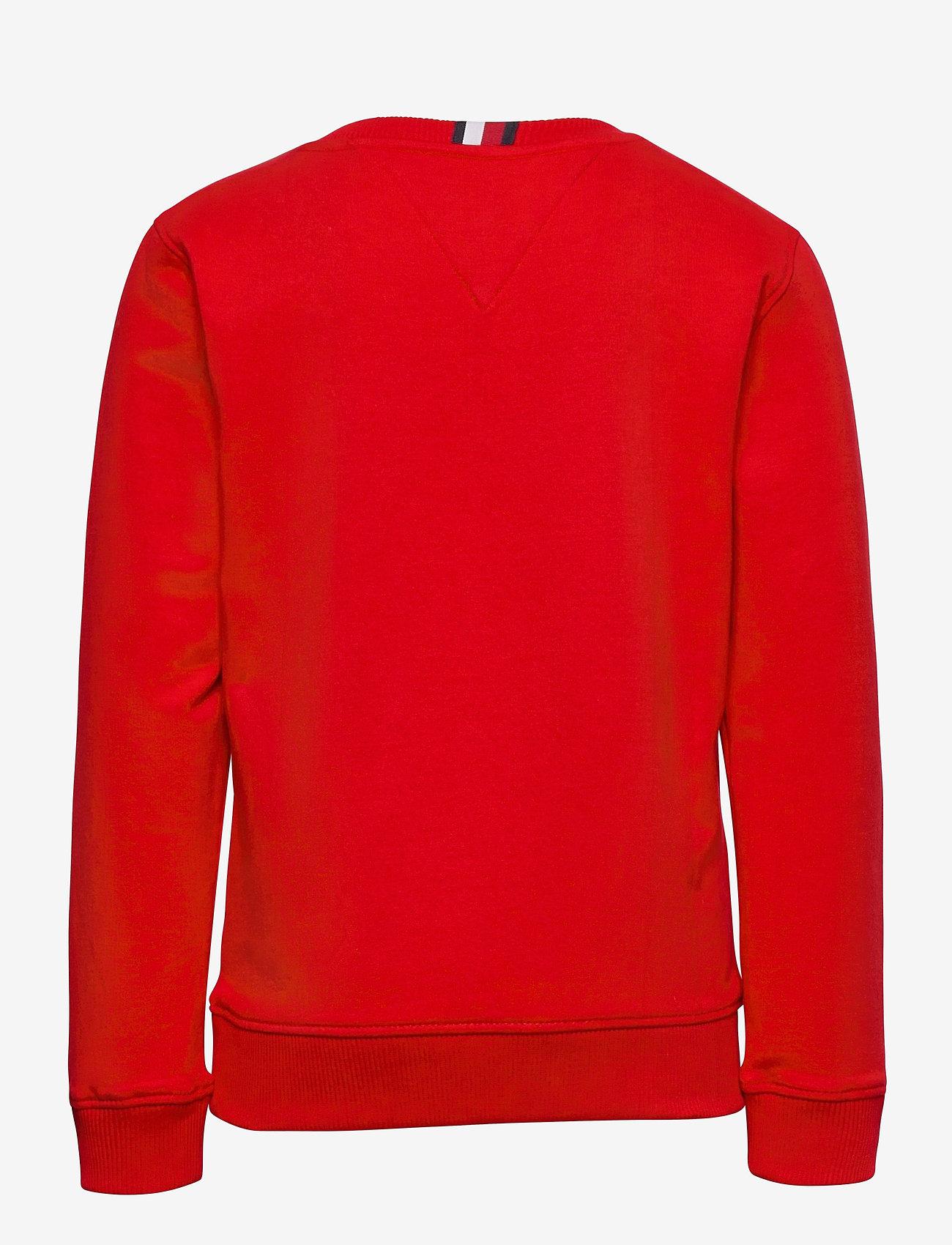 Tommy Hilfiger - GLOBAL STRIPE CN - sweatshirts - deep crimson - 1