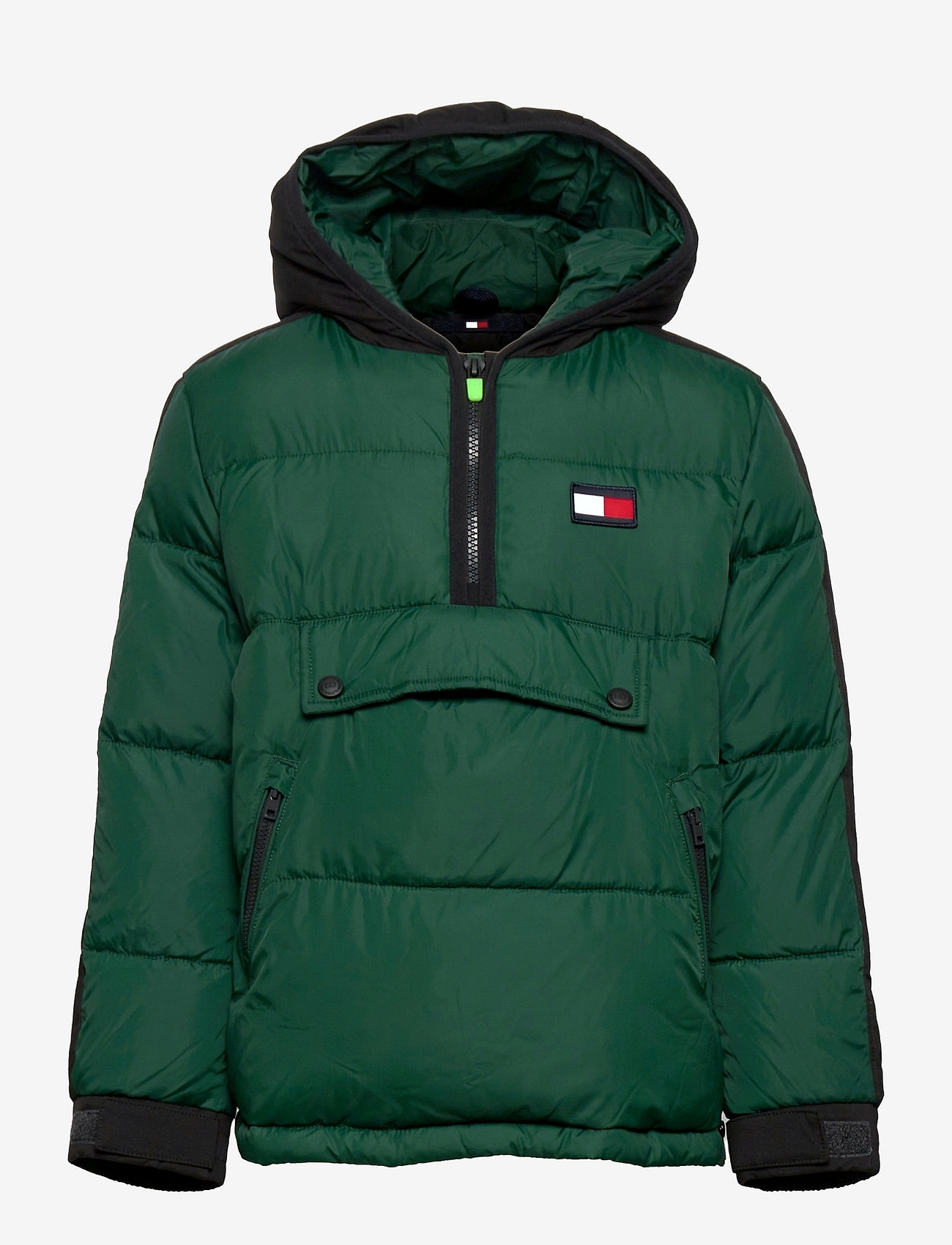 Tommy Hilfiger - PADDED POPOVER - puffer & padded - ornamental green/black - 0